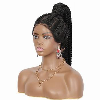 Brinbea Pre-Braided High Ponytail Style 360 Swiss Lace Front