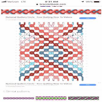 Go to  for more Friendship bracelet pattern 4719 by eeza Bracelet Pattern 17992 17992…Friendship