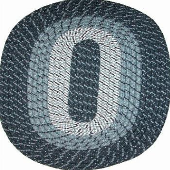 Plymouth 5' x 8' Braided Rug in Midnight Blue Made in USA