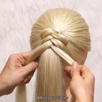 STEP BY STEP BRAIDED PONYTAIL These easily done braids are a life saver!