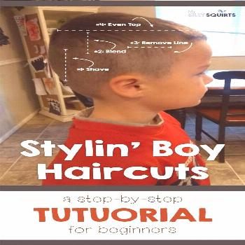 Stylin' boy haircut: Step-by-step tutorial | My Silly Squirts