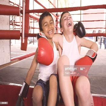 Two Young Boxers Sharing A Moment Photography ,