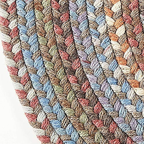 Super Area Rugs Cherry Hill Braided Rug Soft Toned Wool
